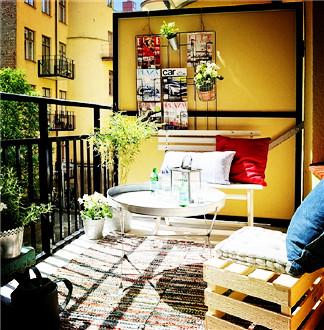 如果有个小阳台 这样装修最舒服