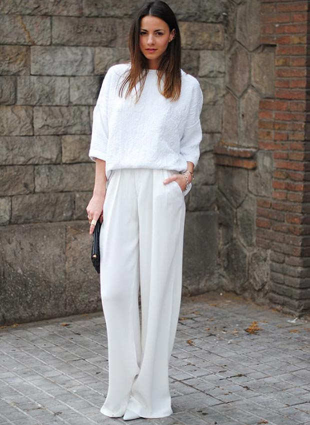 All White Outfits 秋季怎能辜负白色好衣裳?
