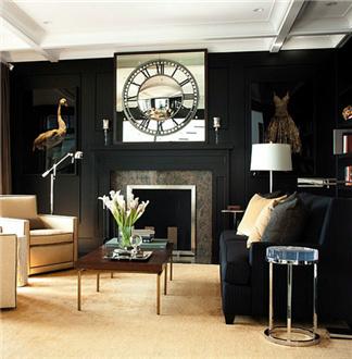 灵感:黑白客厅永恒的风雅