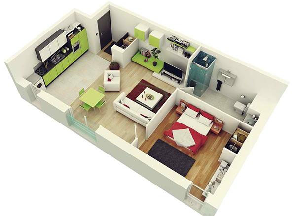 20个专为单身人士或小夫妻设计的单卧公寓
