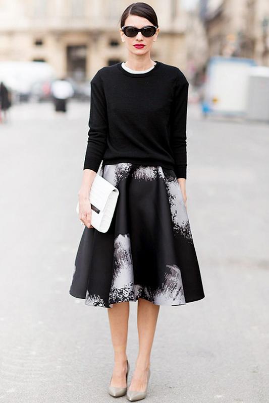 妩媚而优雅 复古伞裙的时尚女人味