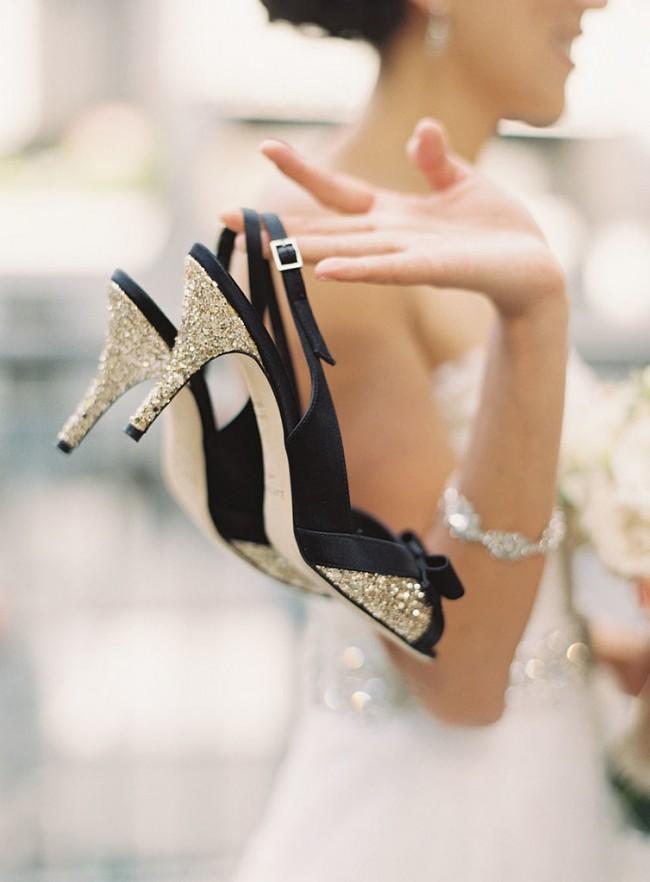 浪漫婚礼的梦幻新娘鞋履