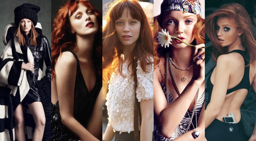 红发正流行!8位光彩迷人的红发名模