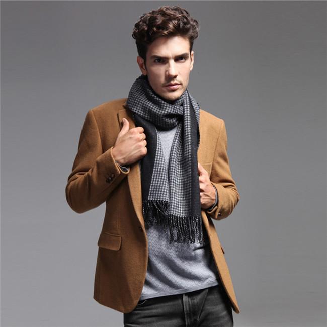 优雅男士的四种围巾系法