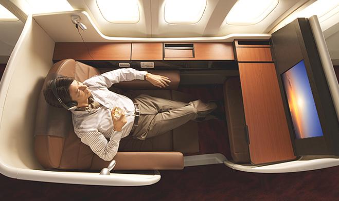 日本航空头等舱在国际航班上采用了日航套房