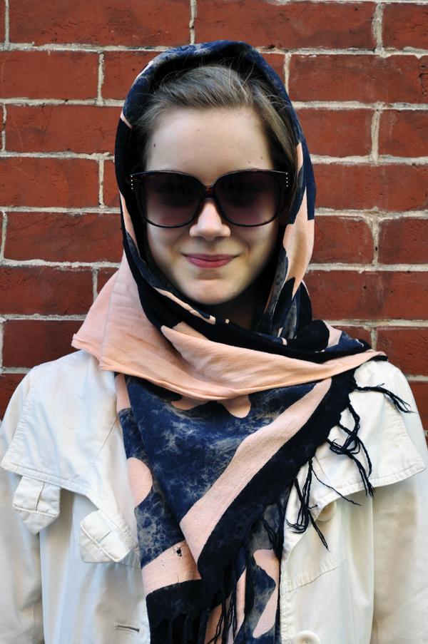 围巾有窍门 不同脸型不同搭法