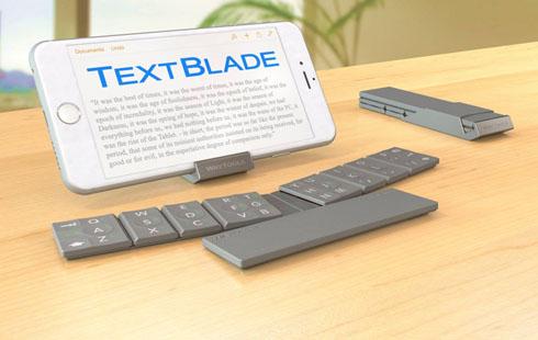 8个键的蓝牙键盘你见过吗?超轻薄TextBlade