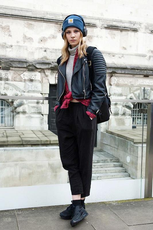 街拍:伦敦时装周的大胆多变达人秀
