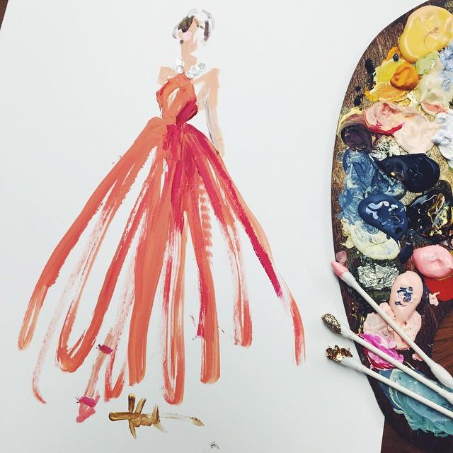妙笔生花 红毯礼服浪漫手绘版