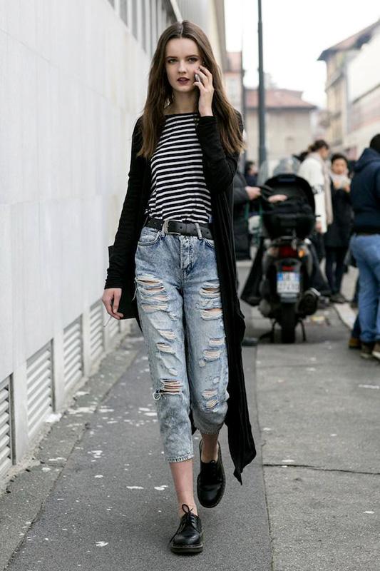 街拍:与众不同的气质美 偷师模特儿休闲style