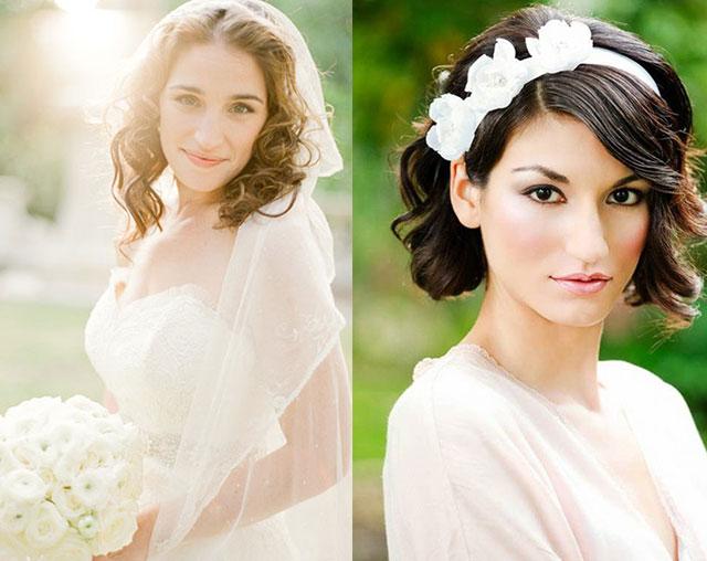 短发新娘最美发型