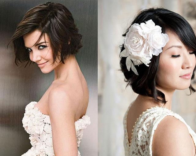 2015 短发新娘最美发型