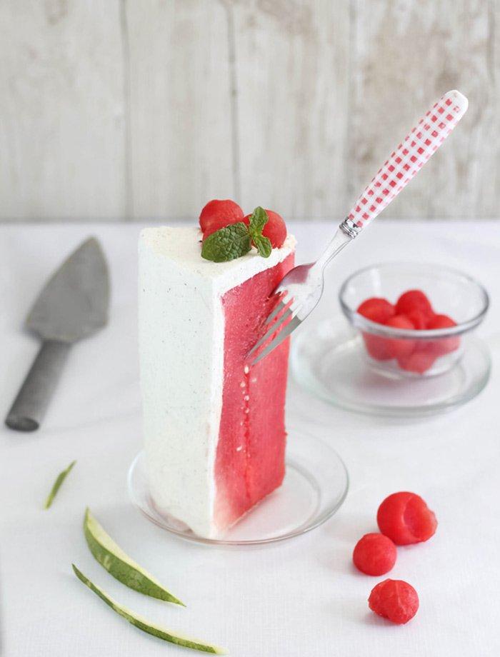 教你制作消夏甜点:西瓜蛋糕
