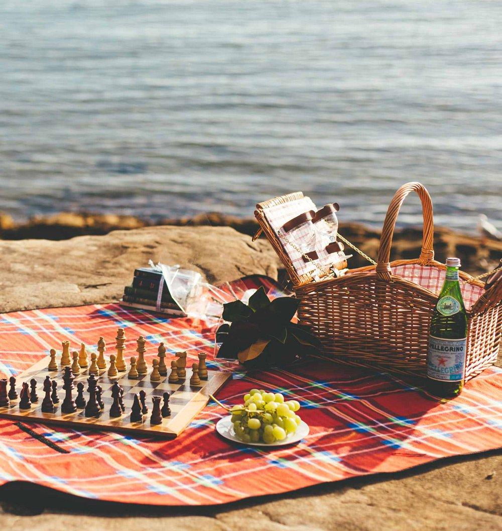 海边野餐 简笔画