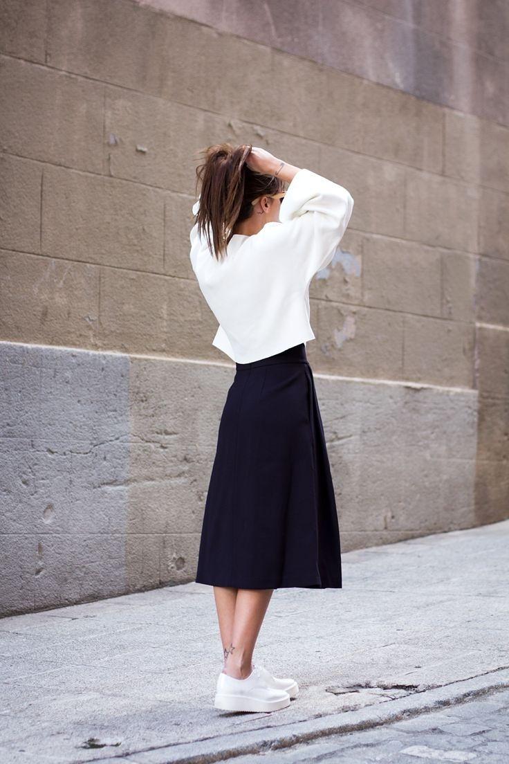 黑白穿搭的极致美