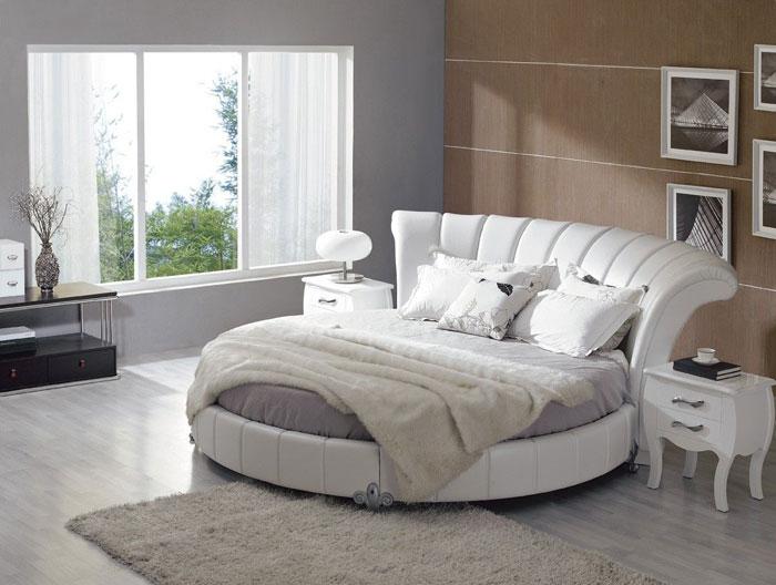摩登卧室:完美圆床灵感