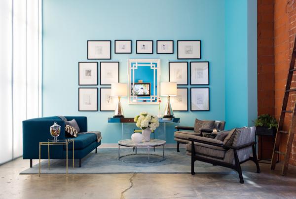 巧用油漆色 打造时尚客厅