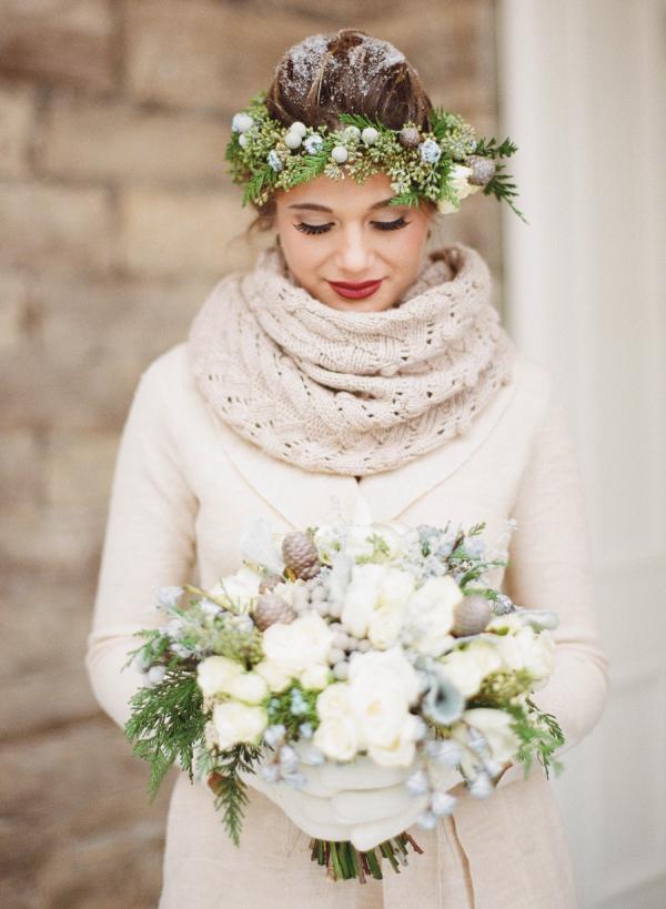 冬季婚礼的柔软浪漫